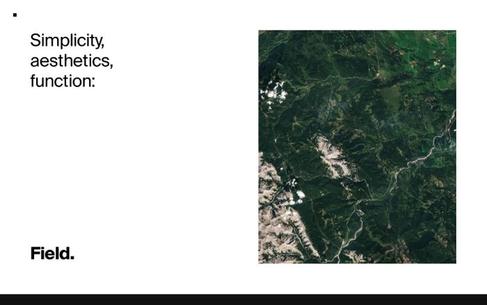 Screenshot of Field | Design and development studio in Calgary