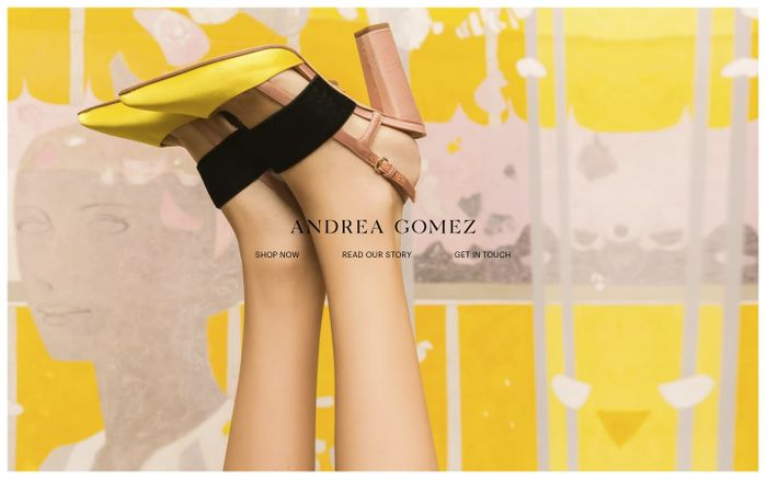 Screenshot of Buy Women Luxury Footwear | Designer Shoes For Women - Andrea Gomez