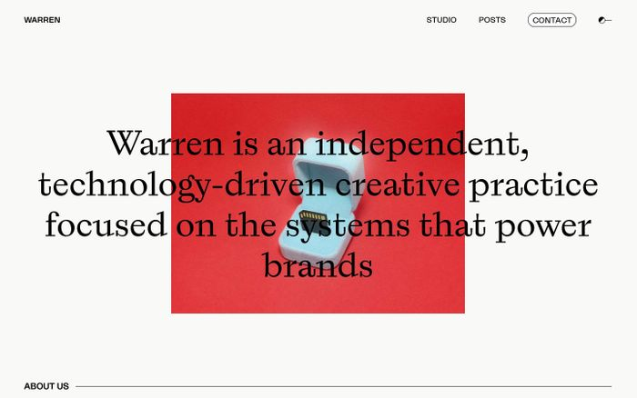 Screenshot of Warren San Francisco website