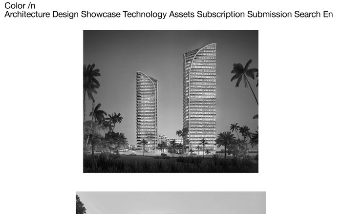 Screenshot of Color In Architecture Homepage - Color Architecture
