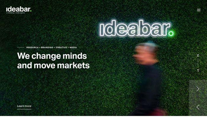 Screenshot of Ideabar | Full-Service Marketing + Media Agency in West Palm Beach, FL
