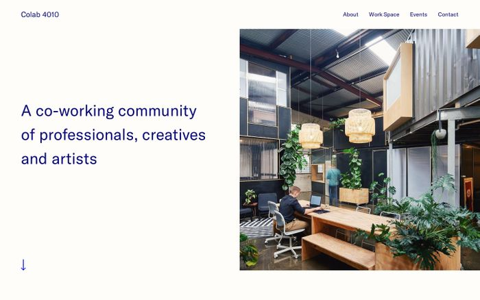 Screenshot of Colab 4010 | A co-working community of professionals, creatives and artists