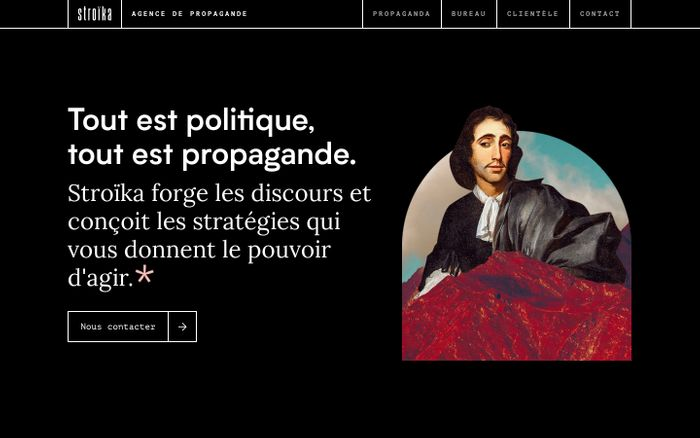 Screenshot of Stroika — Agence de Propagande website