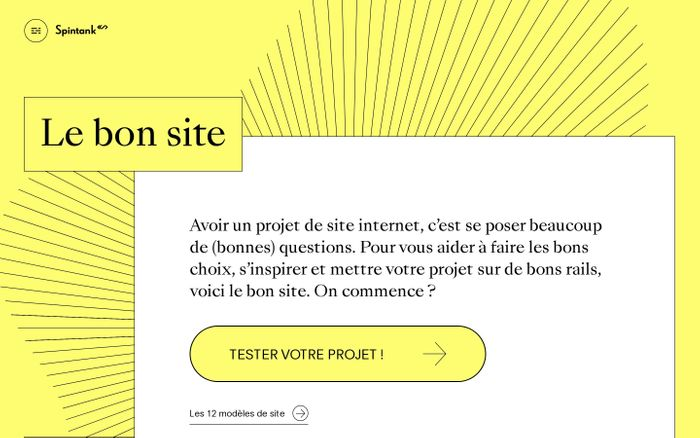 Screenshot of Le bon site