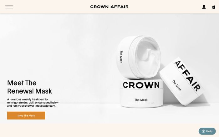 Screenshot of Crown Affair - Meet the new routine and ritual for your hair