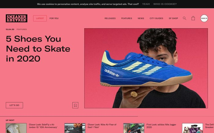 Screenshot of Sneaker Freaker