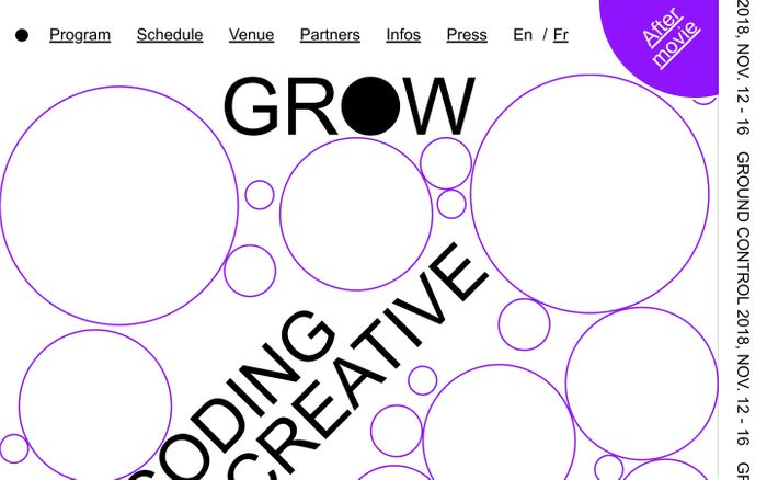 Screenshot of GROW | Homepage