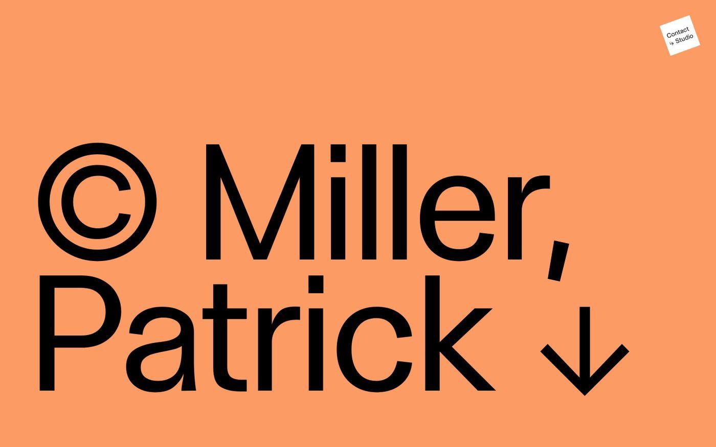 Screenshot of Patrick Miller website