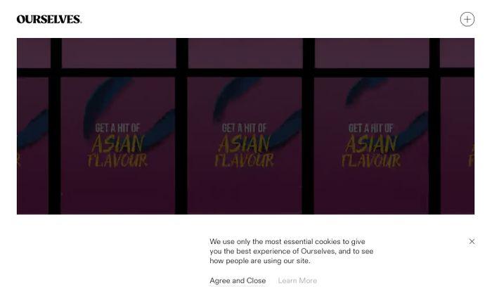 Screenshot of Ourselves website