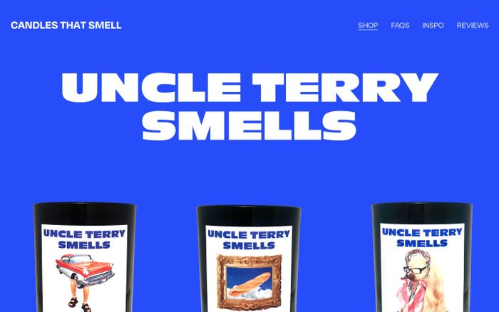 Screenshot of UNCLE TERRY SMELLS