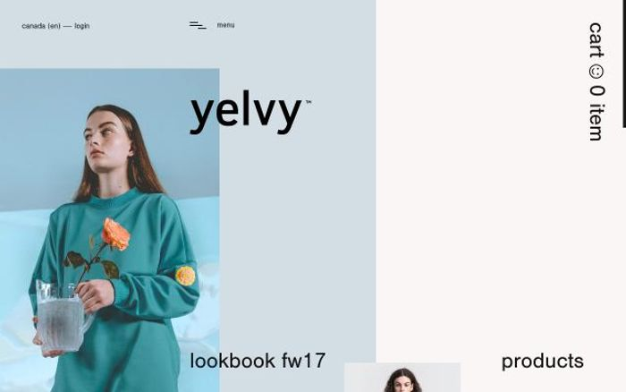 Screenshot of Yelvy website