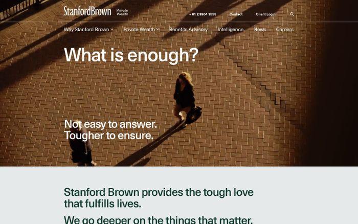 Screenshot of Stanford Brown website