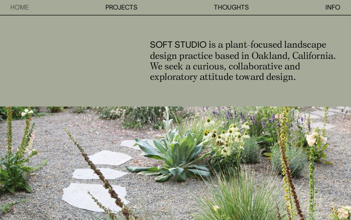 Screenshot of SOFT STUDIO website