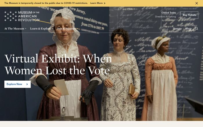 Screenshot of Museum of the American Revolution