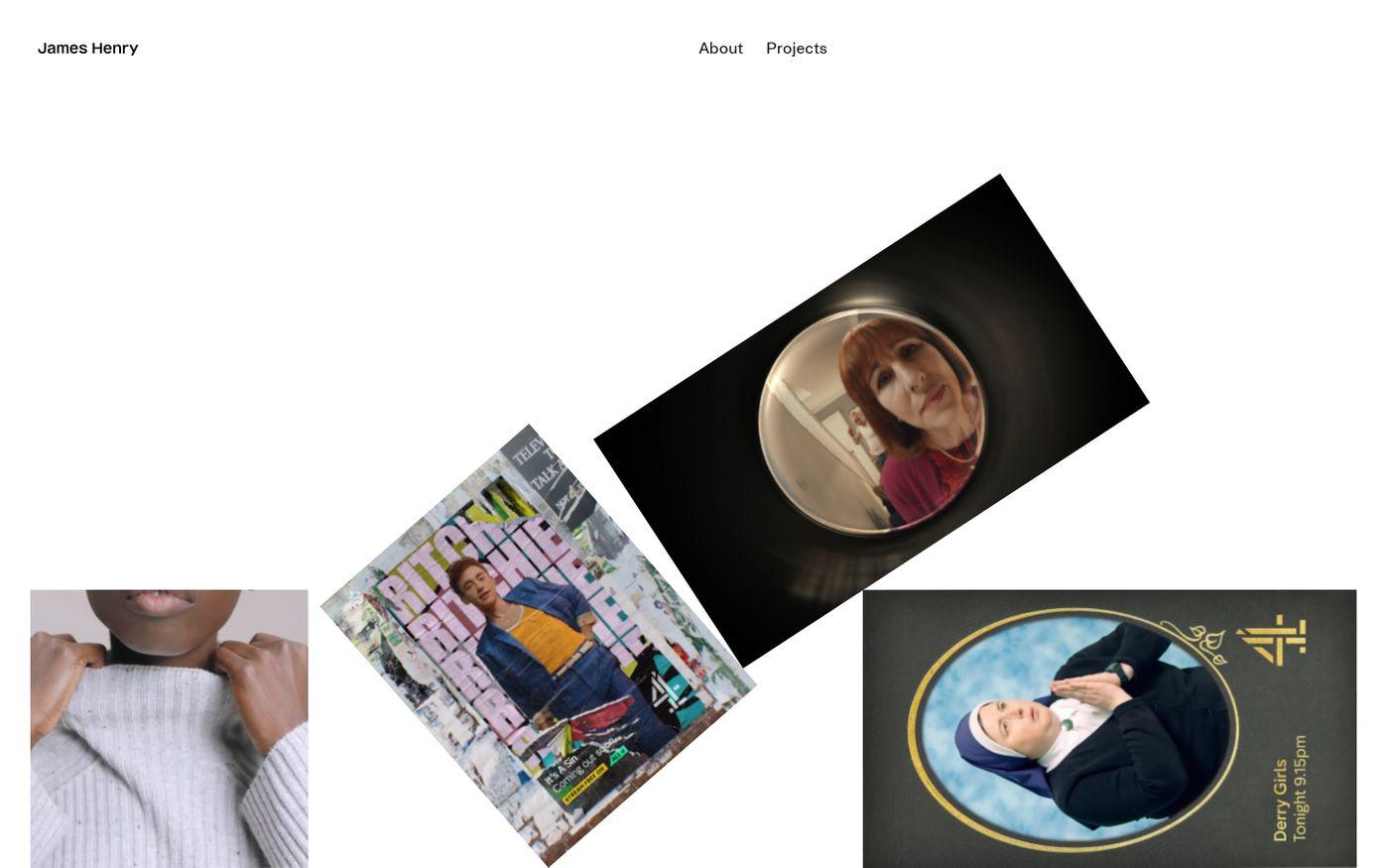 Screenshot of James Henry website