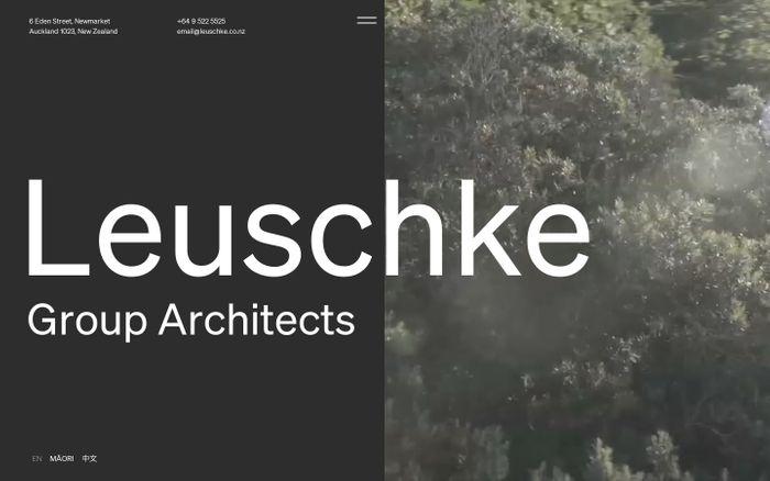 Screenshot of Leuschke Group Architects