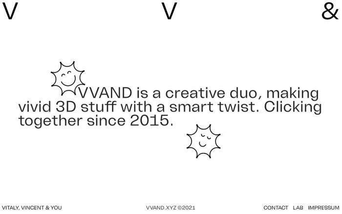 Screenshot of Vvand website