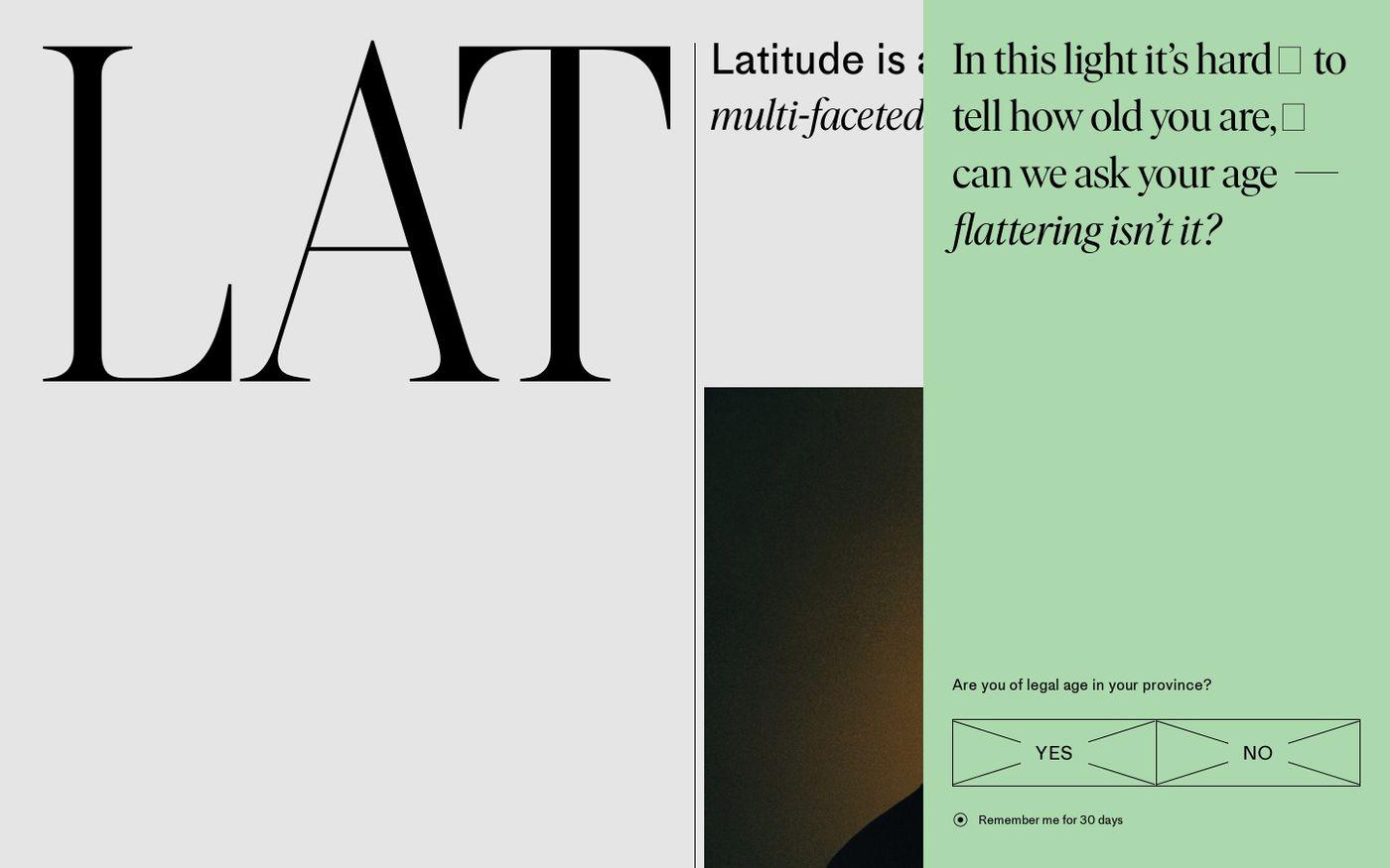 Screenshot of Latitude website