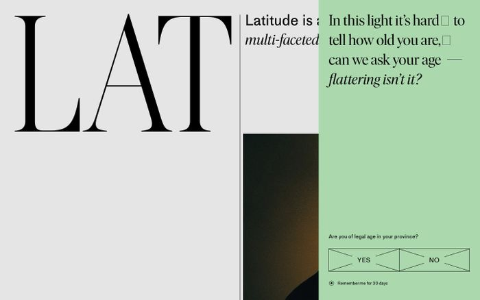 Screenshot of Latitude - Latitude is a publication that's as multi-faceted as you are
