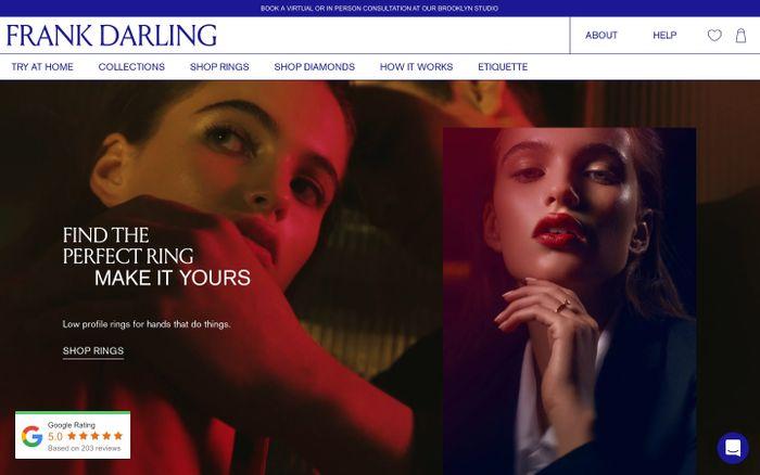 Screenshot of Frank Darling website