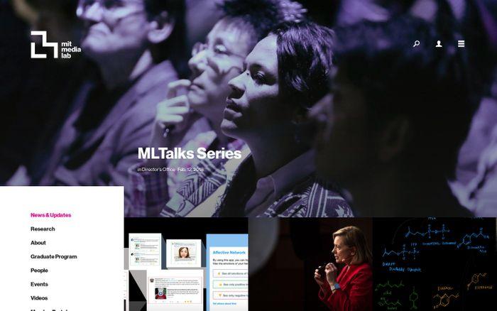 Screenshot of News & Updates — MIT Media Lab