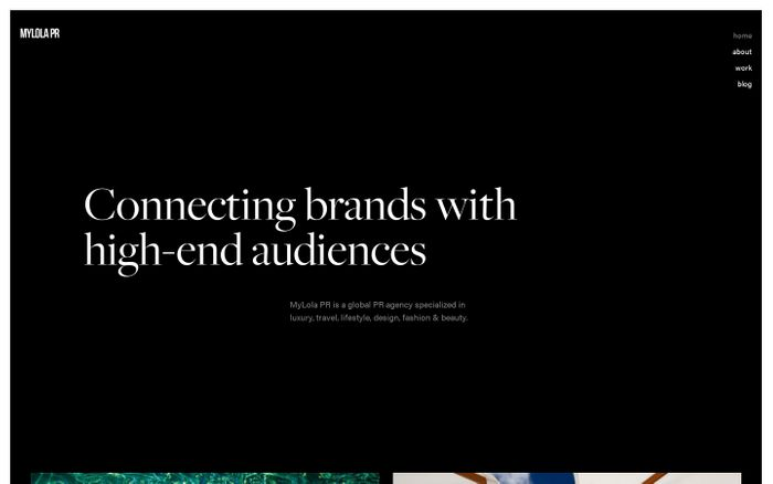 Screenshot of Your result-driven & global PR agency · MyLolaPR.com