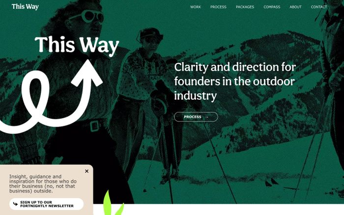 Screenshot of This Way website