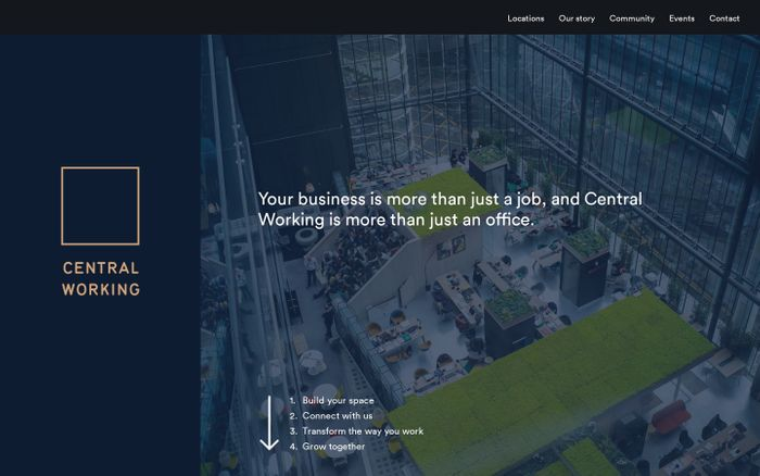Screenshot of Office Work Spaces | Central Working