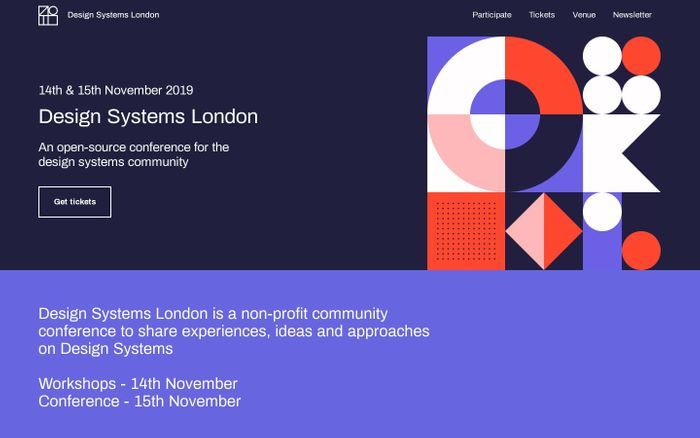 Screenshot of Design Systems London 2019