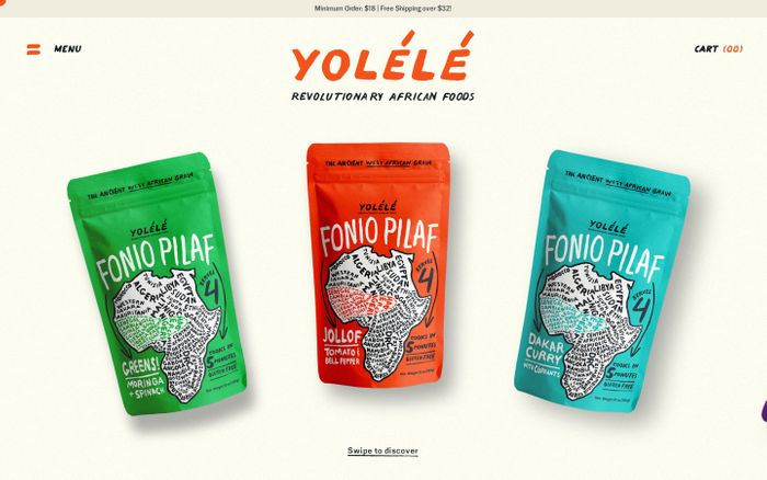 Screenshot of Yolélé website