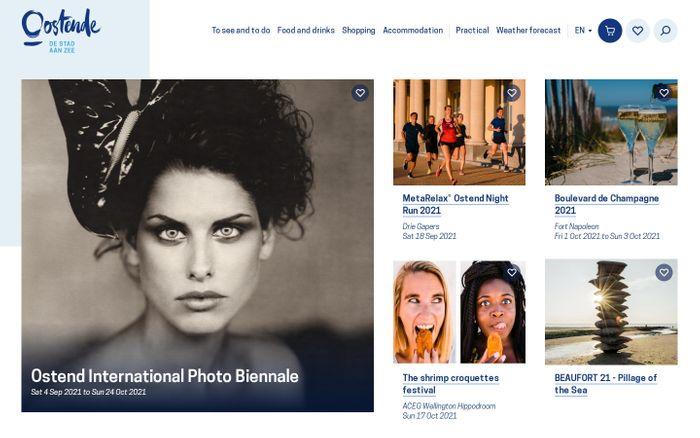 Screenshot of Visit Ostend website