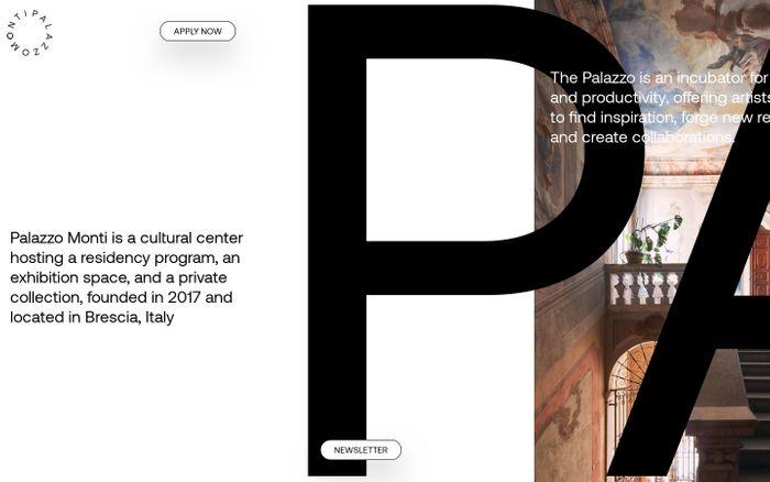 Screenshot of Palazzo Monti website