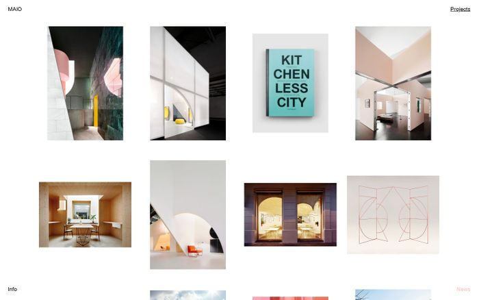 Screenshot of MAIO – Architectural Office based in Barcelona