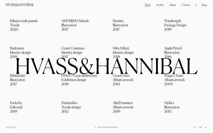 Screenshot of Hvass&Hannibal
