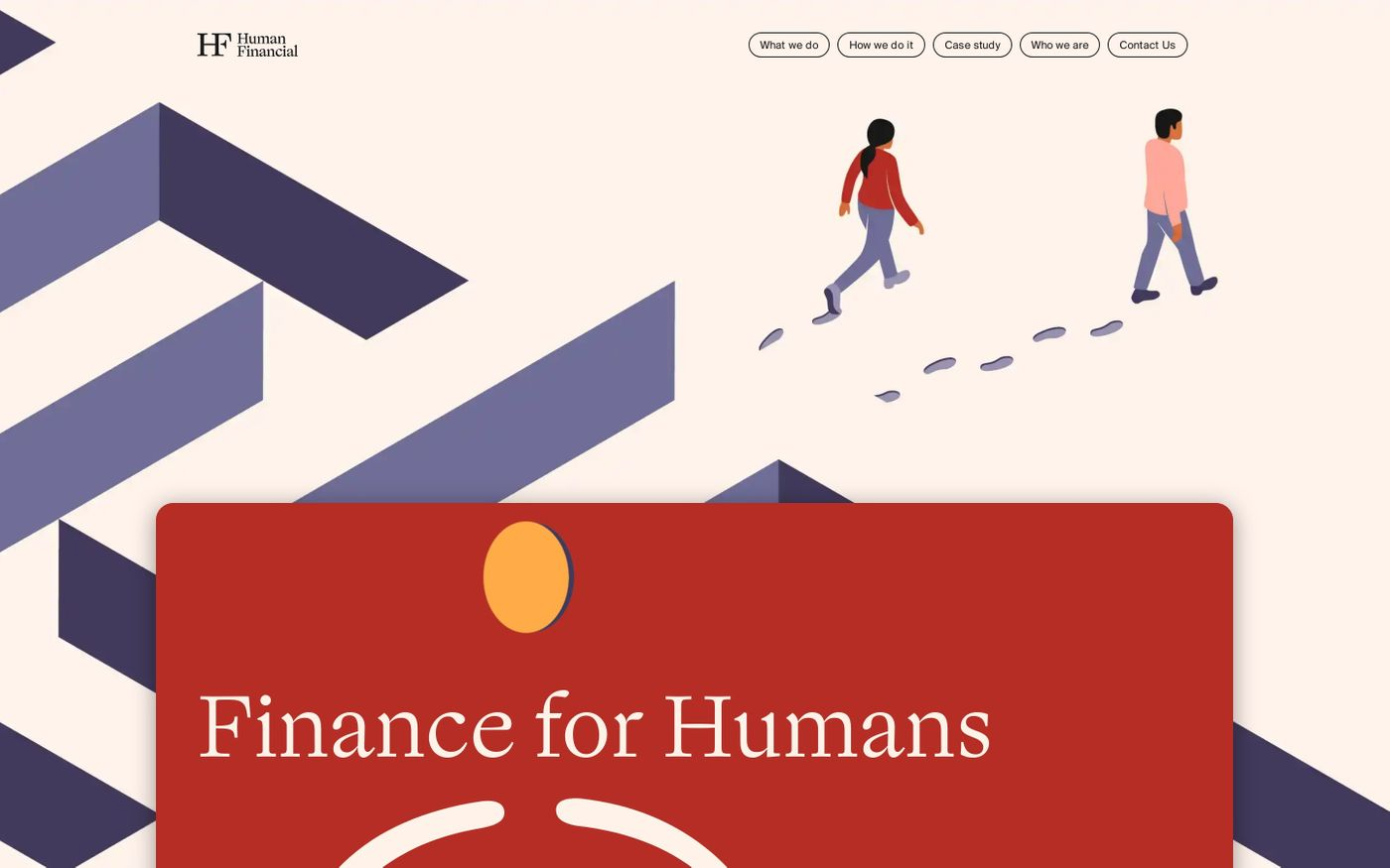 Screenshot of  Human Financial website