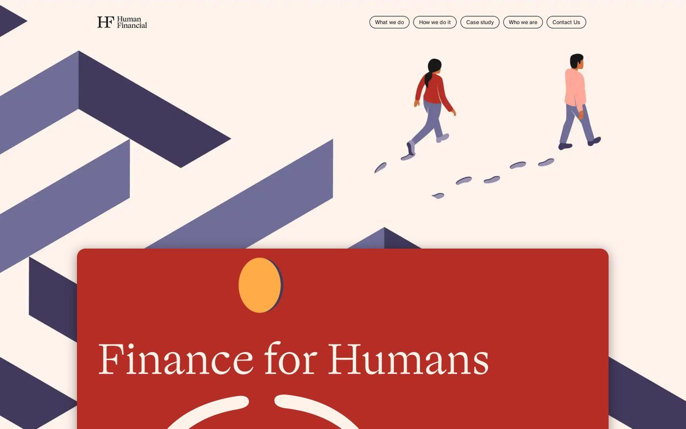 Screenshot of  Human Financial website