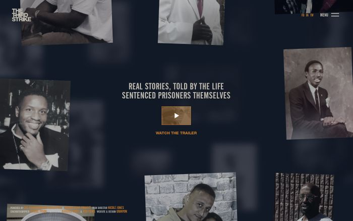 Screenshot of THE THIRD STRIKE - Hear the voices of people devastated by America's 3 Strikes Drug Law.