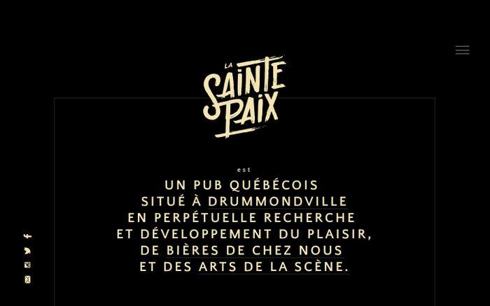 Screenshot of La Sainte Paix / Microbrasserie / Pub / Spectacle | Prenez donc le temps, ici, chez vous, de prendre le temps.