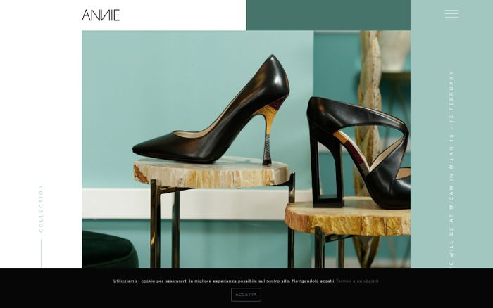 Screenshot of Annie Collections - Made in Italy