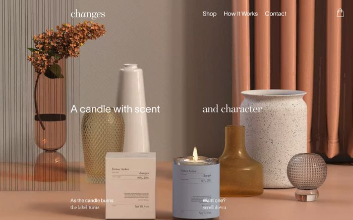 Screenshot of Changes Candles