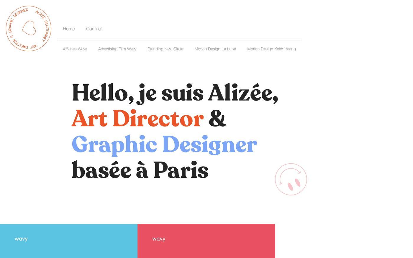 Screenshot of Alizée Boutonnet website