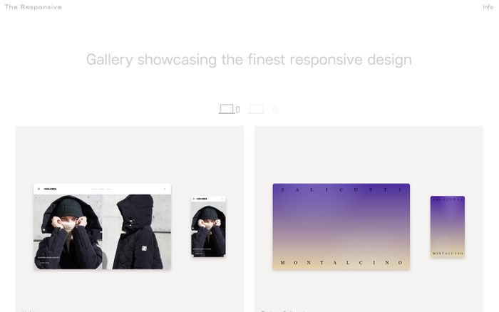 Screenshot of The Responsive || Responsive Design Gallery