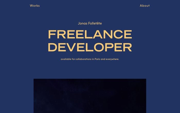 Screenshot of Jonas Folletête | Freelance developer | Works