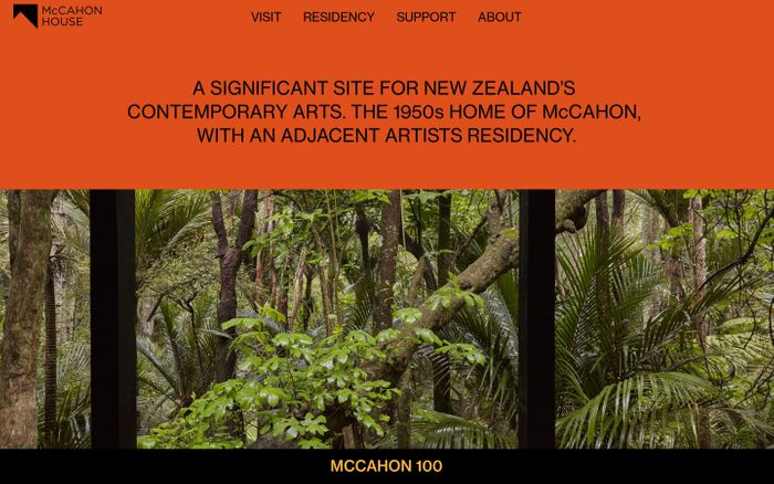 Screenshot of McCahon House website