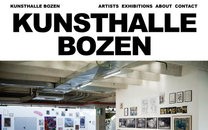 Screenshot of Kunsthalle Bozen
