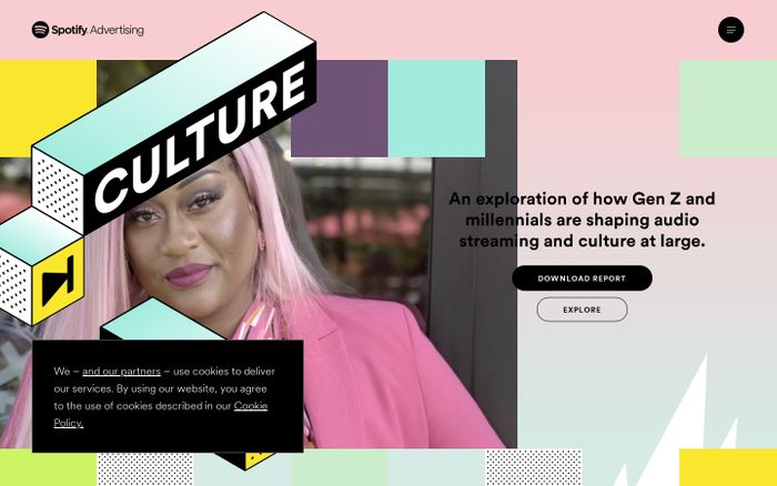 Screenshot of Culture Next 2021 by Spotify website