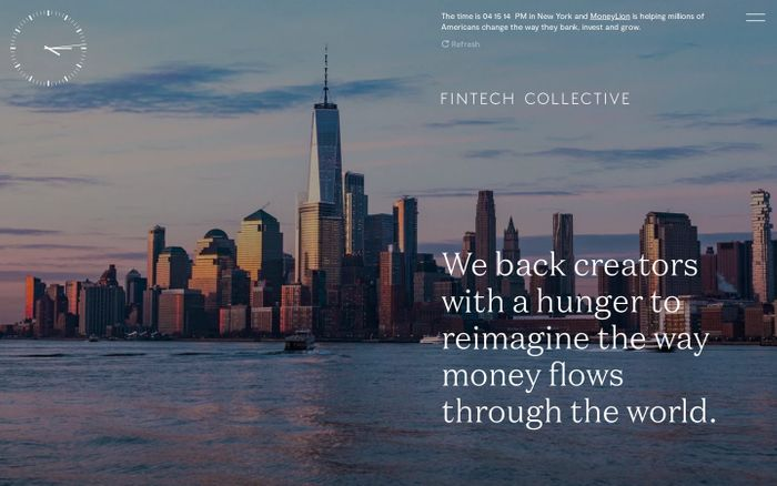Screenshot of FinTech Collective website
