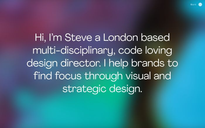 Screenshot of Steve Rawlings website