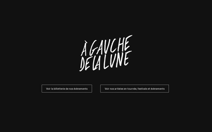 Screenshot of A Gauche de la Lune website