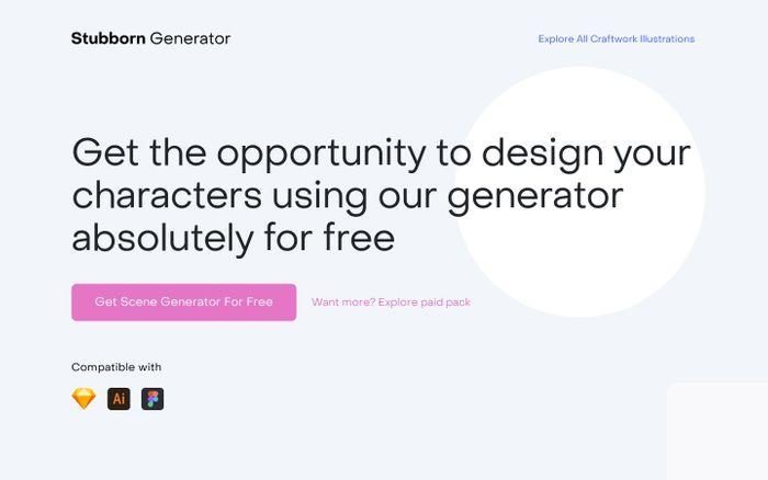 Screenshot of Stubborn - Free Illustrations Generator